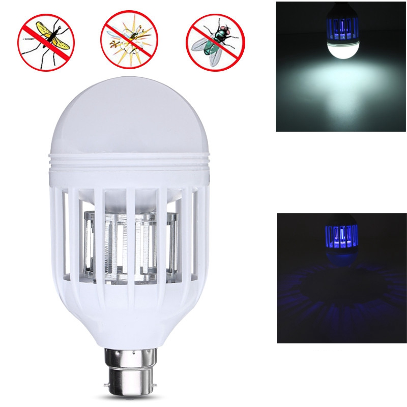 15W 2835 SMD 18 LED Lamp Bulb E27/B22 Anti Mosquito Killer Bulb LED Light Bulb 110V Electronic Insect Fly Lure 6500K 1000LM e27 15w 2u uv curing light sterilization disinfection mosquito killer light bulb 220v