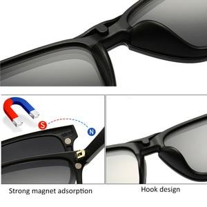 Image 3 - Мужские солнцезащитные очки TR90, Поляризованные, с клипсой, по рецепту, магнитные, для вождения ночью