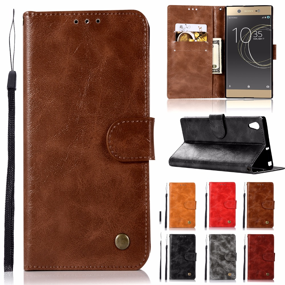 Stand Wallet Flip Case For Sony Xperia XA1 Dual PU Leather Case  Silicon Back Case For Sony Xperia XA1 Ultra Dual XA1 Plus Dual
