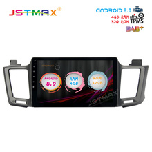 JSTMAX 10.2″ Android 8.0 Car GPS Radio Player for Toyota RAV4 2014 2015 2016 with Octa Core 4GB+32GB Auto Stereo Multimedia DAB+