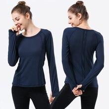 Navy sport Yoga T-Shirt Women Gym Sports Fitness Women Sport Top Long Sleeve t shirts O Neck Base Shirt Tee Tops camiseta femin цена и фото