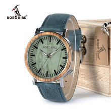 BOBO BIRD Newest Wooden Metal Watch for Men Brand Design Genuine Leather Strap Lightweight Quartz Watches Relogio Masculino