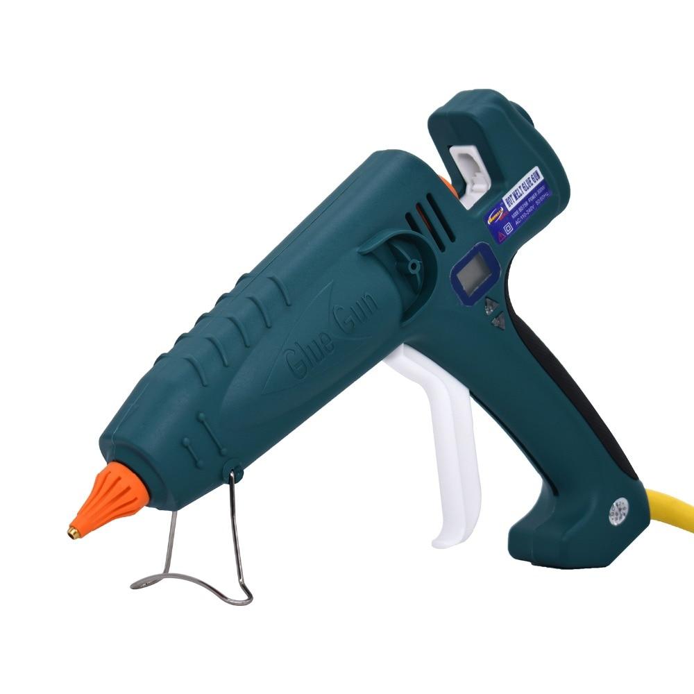 Pistolet à colle thermofusible 500W haute puissance fabrication industrielle Thermostat température réglable affichage numérique utilisation 11mm bâton de colle - 6