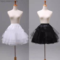 NIXUANYUAN белый или черный короткие юбки 2019 для женщин линии 3 слоя Нижняя юбка для свадебное платье jupon cerceau mariage