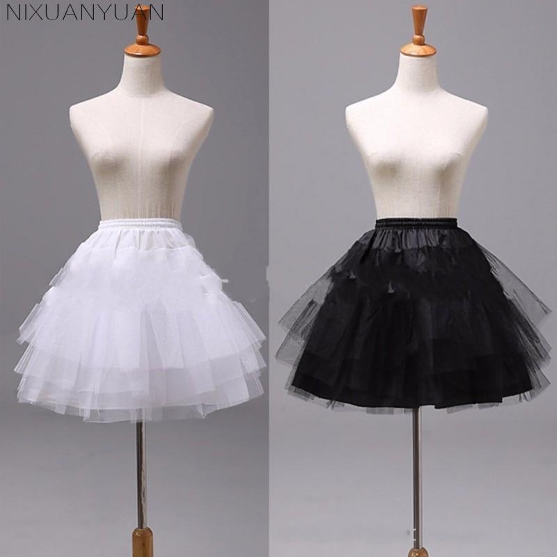 NIXUANYUAN White Or Black Short Petticoats 2020 Women A Line 3 Layers Underskirt For Wedding Dress Jupon Cerceau Mariage