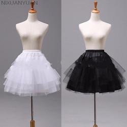 NIXUANYUAN blanc ou noir jupons courts 2020 femmes une ligne 3 couches sous-jupe pour robe de mariée jupon cerceau mariage