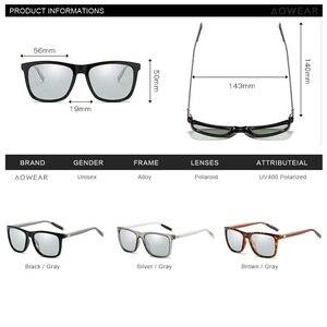 Image 5 - AOWEAR квадратные очки Хамелеона, женские поляризационные фотохромные солнцезащитные очки HD для вождения, Винтажные Солнцезащитные очки для мужчин и женщин