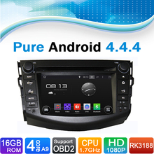 Pure Android 4.4.4 Car DVD GPS Navigation for Toyota RAV4  (2006-2012)