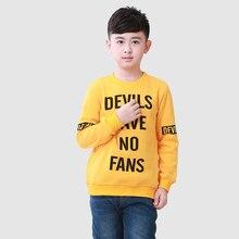 Yellow Boys T Shirt Cotton 2016 Fashion Children Tees Regular Boys Tops Long Sleeve Children Clothing For Yellow Boys T Shirt