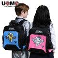 UNME estudiantes schoolbag niños mochila para 5 a 12 años de edad los niños a prueba de agua, bolsa de la escuela primaria
