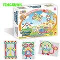 296pcs/set MAGIC MUSHROOMS NAILS DIY Creative Mosaic Puzzle Intelligence Toys Children's Birthday Gift 20.2*26.2*5.3cm