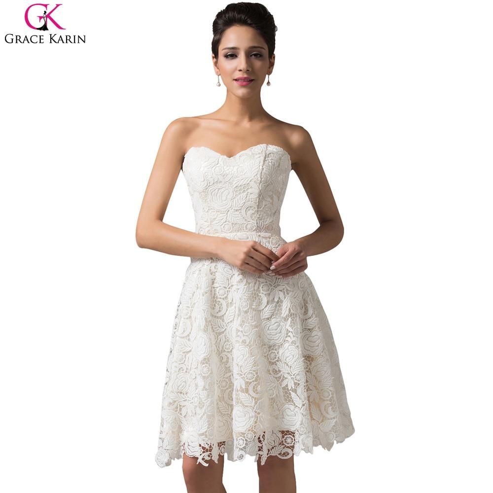 Short Lace Prom Dresses 2017 Robe De Soiree Grace Karin