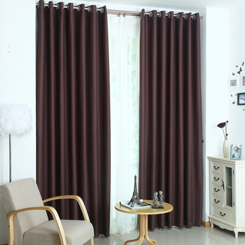 Luxury modern shade blinds window blackout curtains for for Modern living room curtains uk