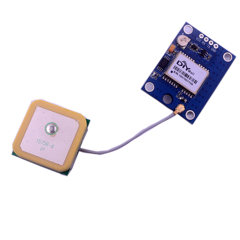 GPS Module With Active GPS Ceramic Antenna For Arduino Raspberry Pi RPI DIY0073
