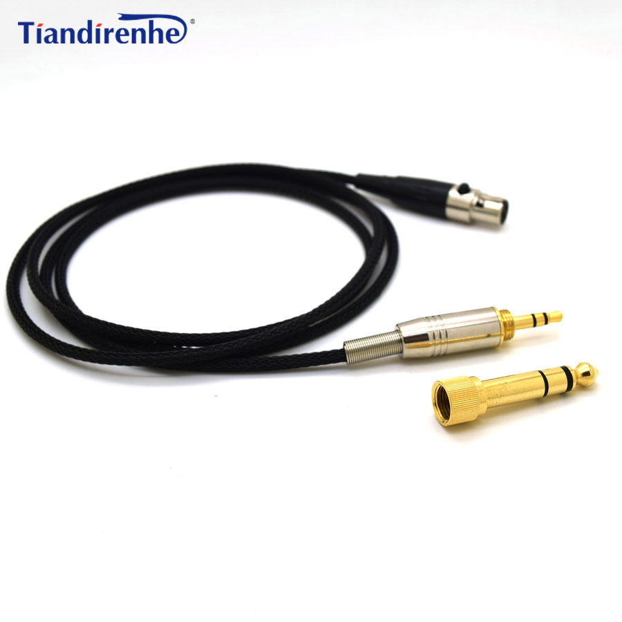 Upgraded Headphone Cable for AKG K702 Q701 K271 K240 K267 K712 Headset Replacement Audio Wire 6.35 / 3.5mm Male to Mini XLR