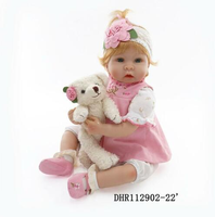 22'' Toddler Bebe Reborn Baby Girl Doll Lifelike Silicone Vinyl Toy Newborn Gift Girl Toys for Kids American Girl Doll