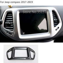 Car styling contorno Mappa di Navigazione GPS trim cruscotto Instrument meter Pannello del contatore parti del telaio Per Jeep compass 2017 2018 2019