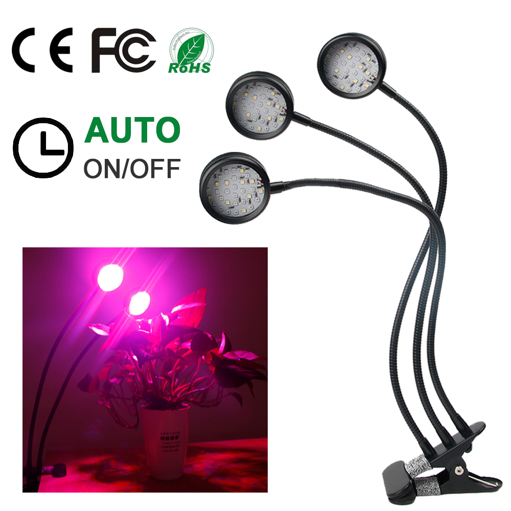 LED Grow Light Lamp 30W Full Spectrum Dimmable Timing Fitolamp For Plant Growing Indoor Garden Grow Light Seed Flower Vegetable in Growing Lamps from Lights Lighting