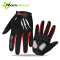 ROCKBROS Thermal MTB Road Bike Gloves Touch Screen Breathable Cycling Gloves Full Finger Outdoor Sports Bicycle Equipment Gloves