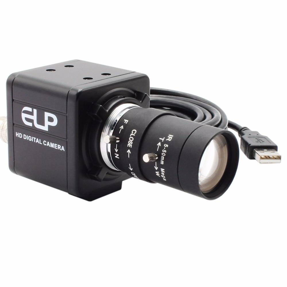 ELP Free driver High resolution HD 5MP CMOS OV5640 5 50mm Manual Varifocal Mini Box 5MP