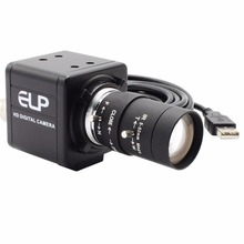 ELP Free driver High resolution HD 5MP CMOS OV5640 5-50mm Manual Varifocal Mini Box 5MP USB Camera for Android Linux Windows