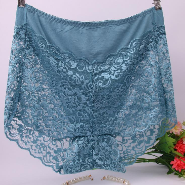 AS13 Fashion Modal Underpants Briefs Sexy Seamless Lingerie Underwear 100kg Big Size Lace Women's   Panties