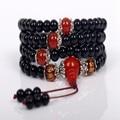 Ubeauty 6mm 108 Obisidian beads  mala bracelet  japa rosary prayer necklace  Tibetan Buddhist meditation bracelet bangles