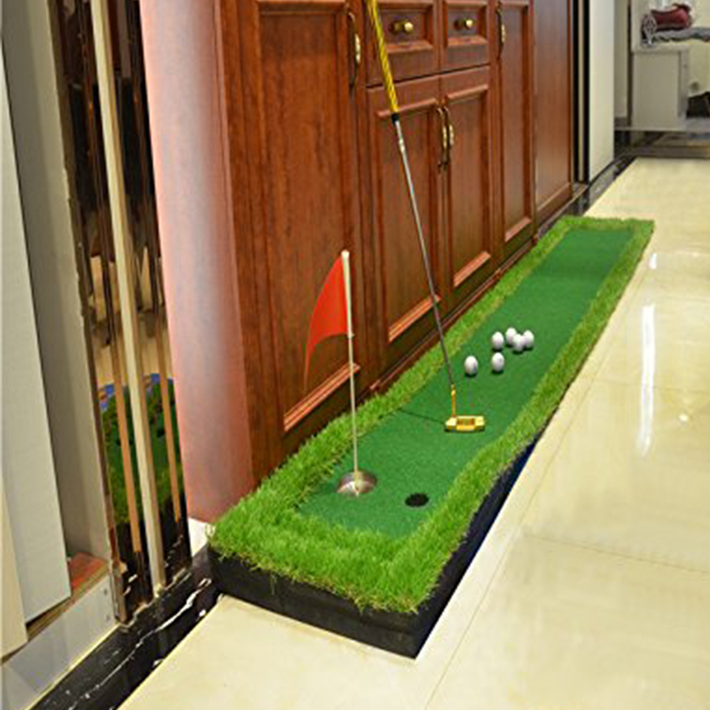 Image 3 - FUNGREEN 50x300CM Mini Golf Putting Green Indoor Outdoor Backyard Protable Golf Practice Putting Trainer Mat for Golfers-in Golf Training Aids from Sports & Entertainment