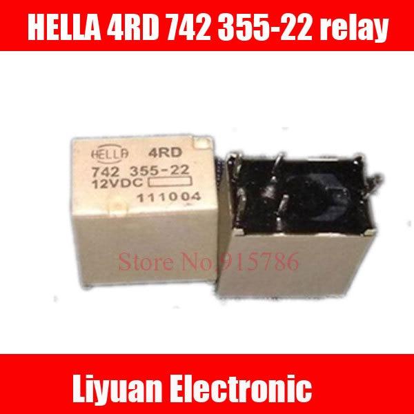 5pcs Far Headlights Automotive Relay Hella 4rd 742 355 22 12vdc In