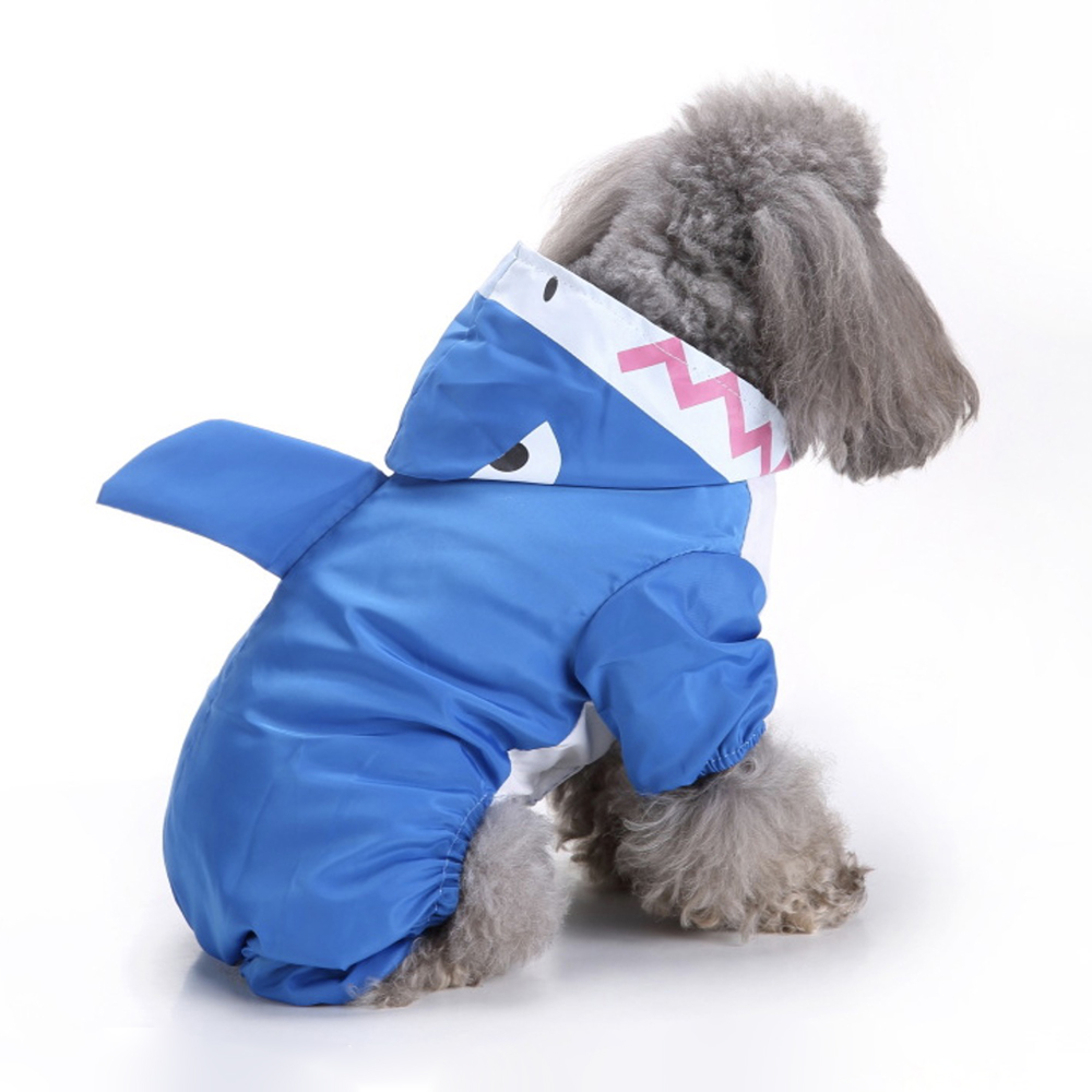 Breathable Dog Raincoat Pet Cloak Puppy Labrador Dog Clothes Cute Waterproof Hooded Jacket Pet Rainy Supplies in Dog Raincoats from Home Garden