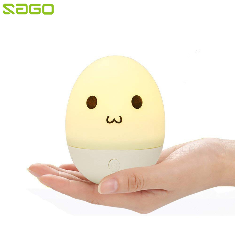 Speakers Motivated Sago 2018 New Tumbler Design Bluetooth Speaker Cute Egg Shape Color Changeable Led Toy For Baby Touch Control Music Player