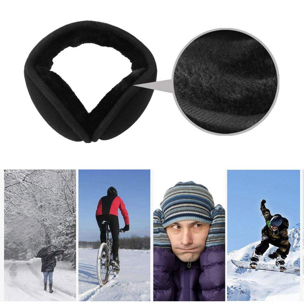Winter Women Men Collapsible Fleece One Size Black Red Solid Earmuffs Earflap Earcap Active Unisex Ear Warmer Cover 2018