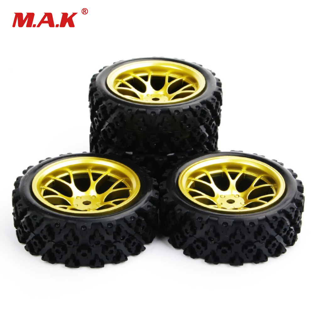 4Pcs 12mm Hex 1:10 Rubber <font><b>Rally</b></font> Tires <font><b>Wheel</b></font> Racing Off Road Car PP0487 Accessories For HSP HPI <font><b>RC</b></font> Car Model Toys image