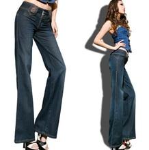 Джинсы женские брюки карандаш Новое прибытие винтаж женские расклешенных джинсы середины талии тонкая талия тонкий загрузки cut брюки
