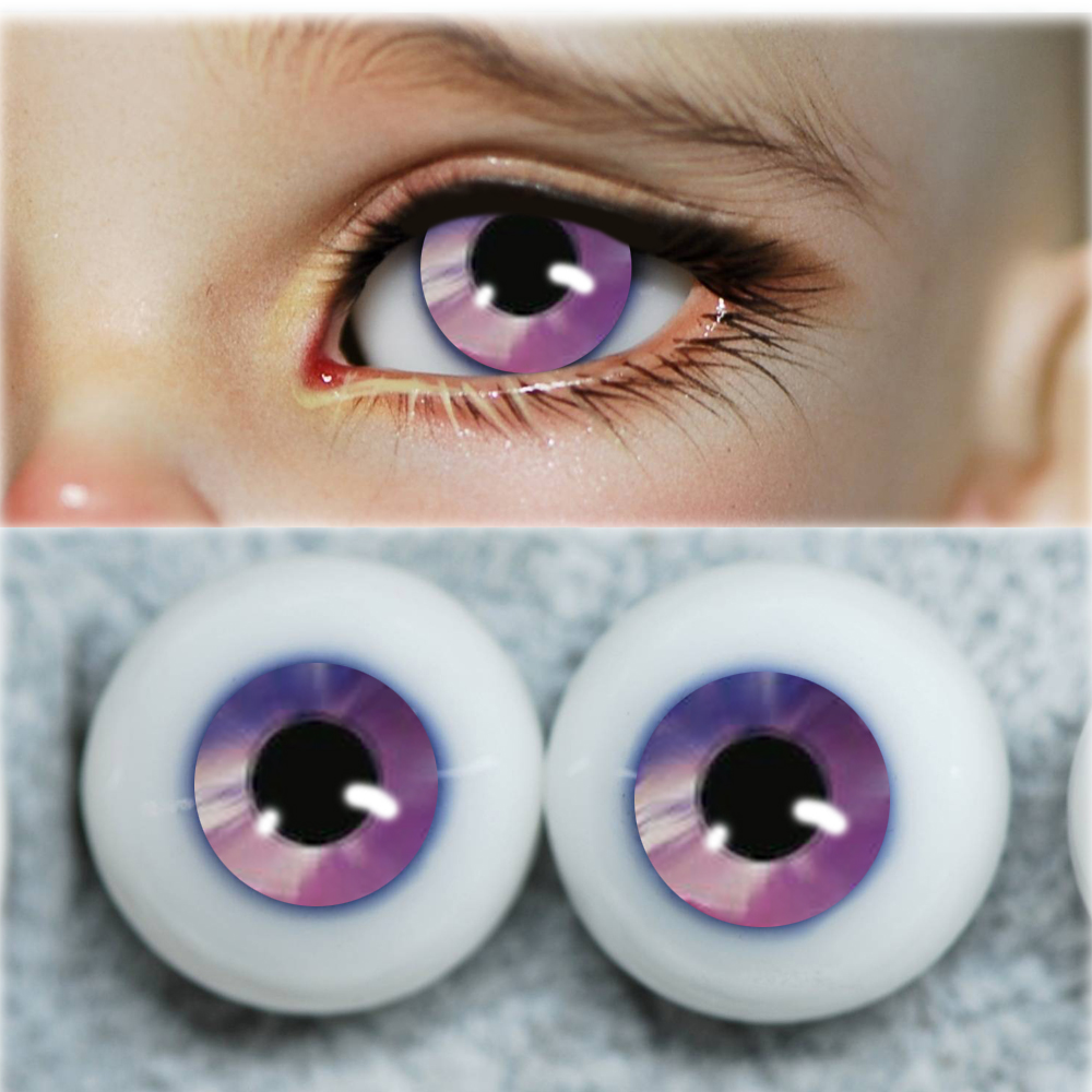 Bjd Eyes Comic Light Purple1/4 1/3 Bjd 1/6 1/8 For SD MSD 8mm 10mm 12mm 14mm 16mm 20mm Eyes Round Plastic BJD Doll Accessories