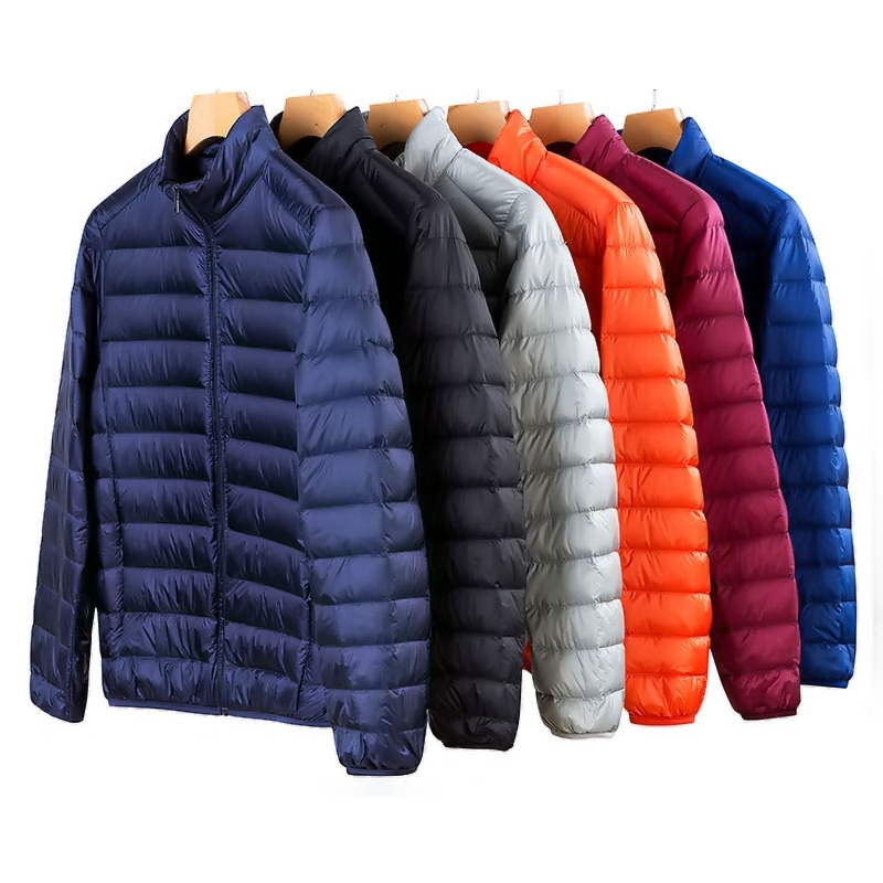 2019 Spring New 50% White Duck Down Jacket Males Winter Heat Ultralight Male Open air Informal Down Jacket Coat Man Youth Fitted 3Xl