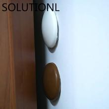 1pc/2pcs/5pcs/10pcs New Wall Protector Door Handle Bumper Guard Stopper Self Adhesive Rubber Round