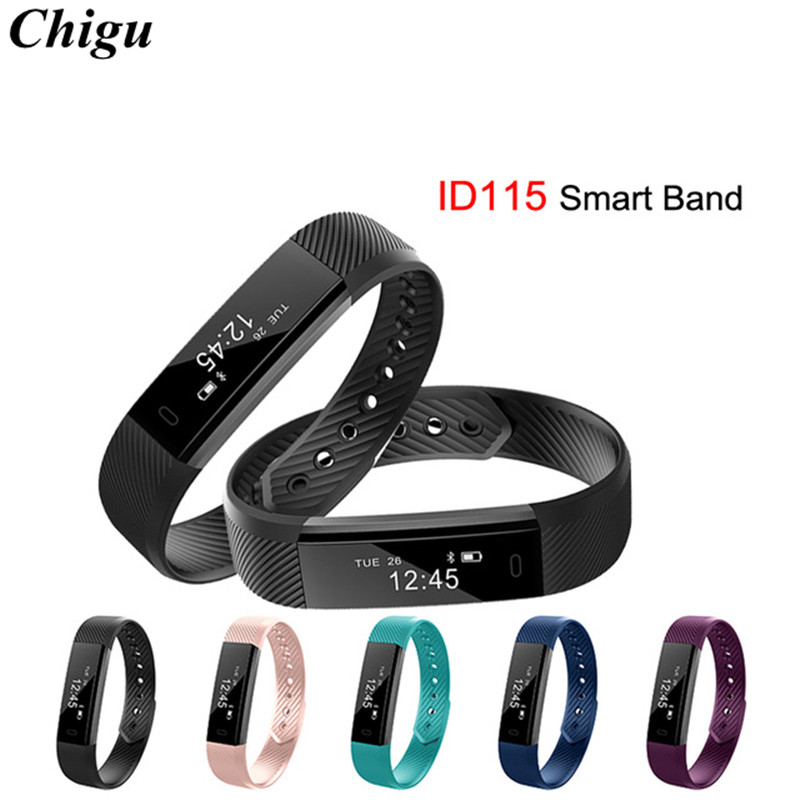 ID115 Smart Band Bluetooth Bracelet Pedometer Fitness Tracker Watch Remote Camera Wristband For Android iOS Fit Bit smartband ...