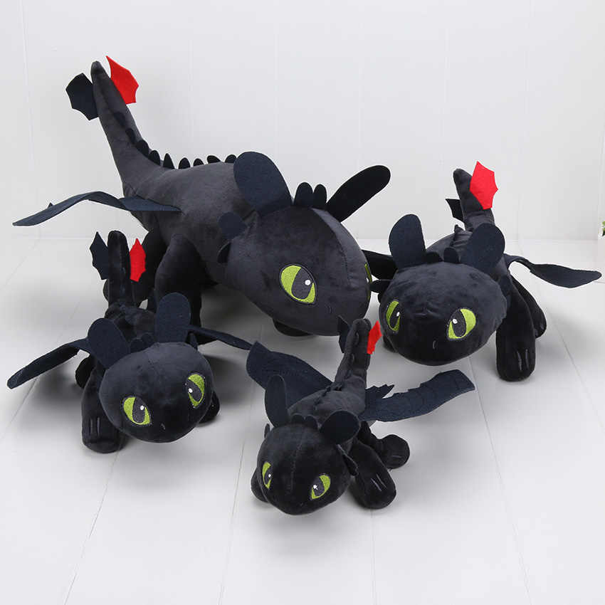 23-55cm 2 Toy Plush Como Treinar O Seu Dragão Fúria Da Noite Desdentado Dragão Stuffed Animal Dolls