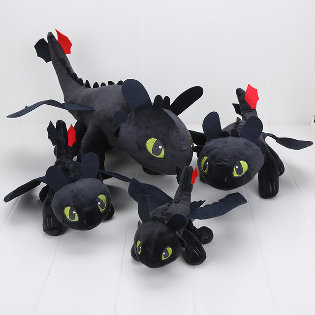 23-55 cm 2 Toy Plush Como Treinar O Seu Dragão Fúria Da Noite Desdentado Dragão Stuffed Animal Dolls
