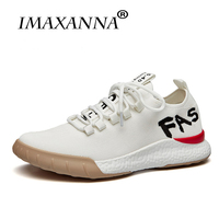 IMAXANNA Men's Sneakers Breathable Running Shoes Men Outdoor White Air Mesh Sport Shoes Men Sneakers Summer Trail Sneaker
