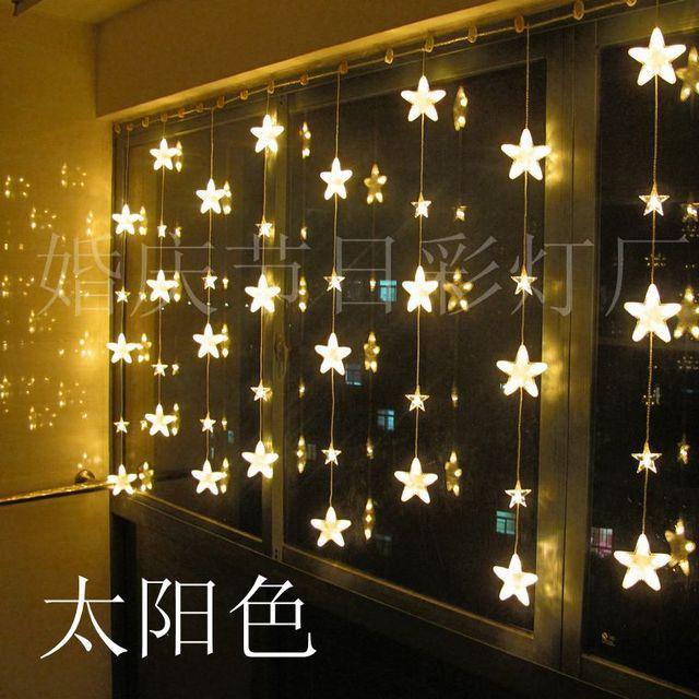 T Criativo Decoração Da Janela Da Lâmpada Luzes Coloridas Da Noite Quente Romântico Doce Para A Festa de casamento do Feriado do Natal