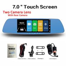 Dragonpad 7 Inch Touch Screen Car DVR Dual Lens Camera Rearview Mirror Video Recorder Dash Cam Auto Camera