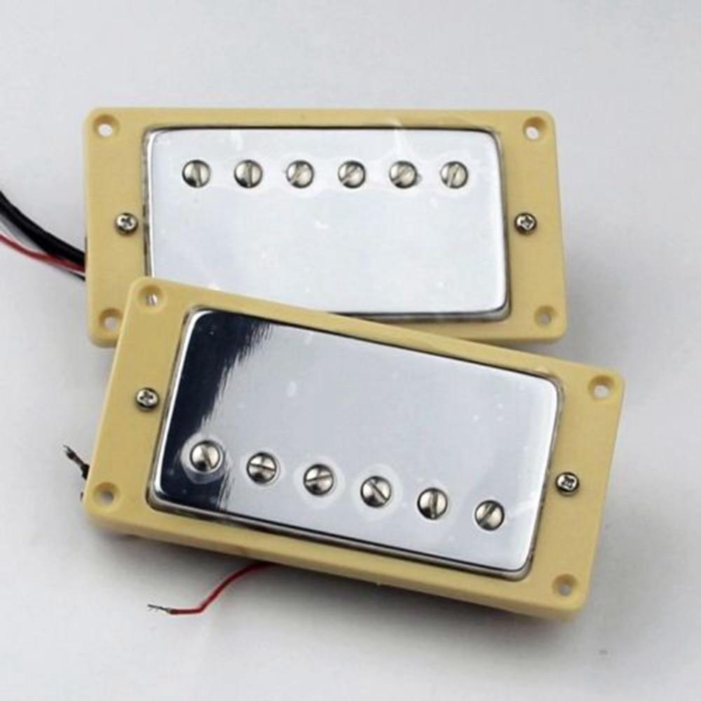 humbucker pickup set chrome four conductor wires alnico v pickups rh aliexpress com Guitar Pickup Wiring Modifications Guitar Pick Up Wiring Color Code