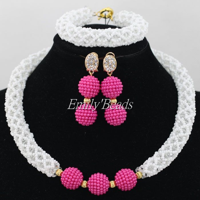 White Crystal Bridal Jewelry Sets African Jewelry Beads Nigerian Wedding African Beads Jewelry Set Christmas Gift AIJ539White Crystal Bridal Jewelry Sets African Jewelry Beads Nigerian Wedding African Beads Jewelry Set Christmas Gift AIJ539