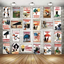 Guinness Vintage Metal Plaques  Wall Art Kitchen Party Home Retro Craft Bar Decoration 30X20CM SA-2013