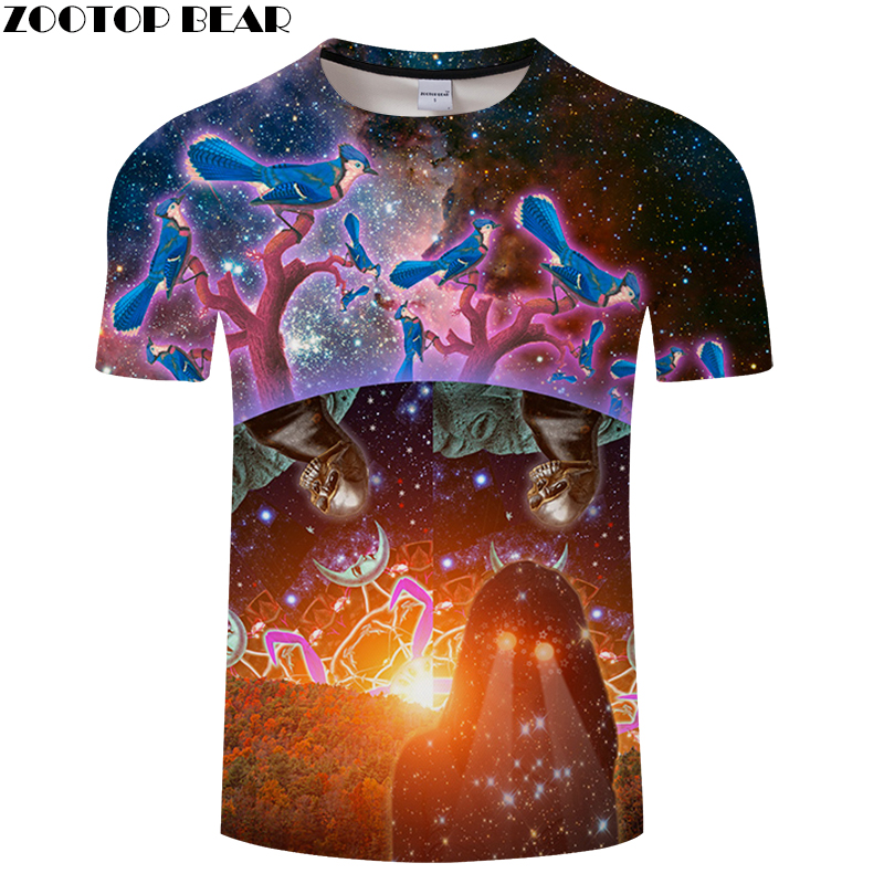 Skull&Tree 3D Print t shirt Men Women tshirt Summer Funny Short Sleeve O-neck Tops&Tee 2018 Hot Streetwear Drop Ship ZOOTOP BEAR