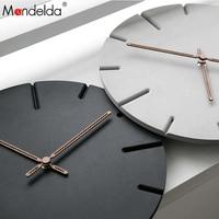 Mandelda 2018 Wall Clock MDF Wooden Modern Design Vintage Rustic Shabby Clock Quiet Art Watch Home Decoration