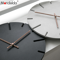 Mandelda 2018 Wall Clock MDF Wooden Modern Design Vintage Rustic Shabby Clock Quiet Art Watch Home Decoration