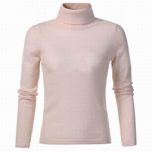 Cashmere Wool Blend Sweater Women Turtleneck Pullover Pink Natural Fabric Soft Warm High Quality Clearance Sale Free Shipping